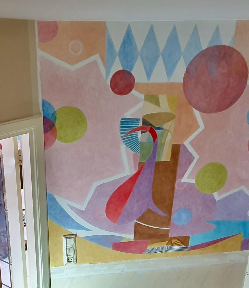 muurschildering in woning